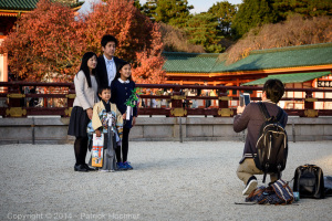 Shichi-Go-San at the Heian Jingu  Shrine, Kyoto