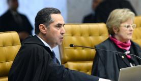 Brasília - Ministro Luís Roberto Barroso relata recurso do presidente da Câmara, Eduardo Cunha, contra rito de impeachment da presidenta Dilma Rousseff, em sessão do STF para julgamento do processo (Antonio Cruz/Ag