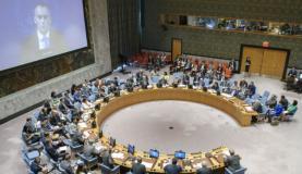 Nickolay Mladenov (em videoconferência) apresenta informe em reunião no Conselho de Segurança da ONU