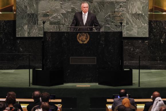 Nova York - EUA - Presidente Michel Temer faz o discurso de abertura da 72 Assembleia Geral da Organização das Nações Unidas (ONU) (Beto Barata/PR)