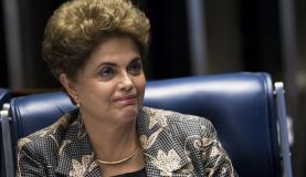 Brasília - A presidenta afastada Dilma Rousseff faz sua defesa durante sessão de julgamento do impeachment no Senado (Marcelo Camargo/Agência Brasil)