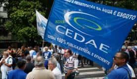 Rio de Janeiro - Durante o leilão, houve manifestação de funcionários da companhia (Fernando Frazão/Agência Brasil)