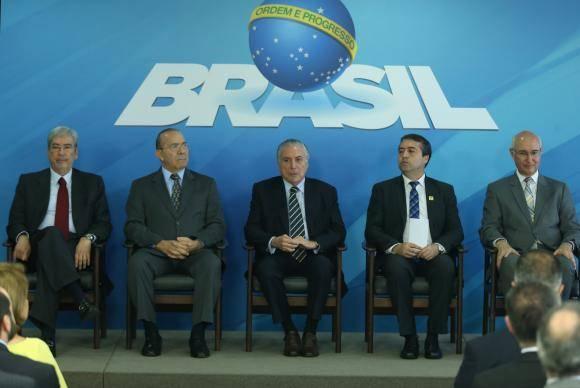 Brasília - O presidente Michel Temer durante cerimônia de lançamento da plataforma digital do Programa Emprega Brasil, no Palácio do Planalto (Antonio Cruz/Agência Brasil)
