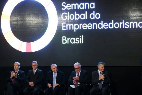 Brasília - O presidente Michel Temer participa da abertura da Semana Global do Empreendedorismo 2017, na sede do Sebrae Nacional (Marcelo Camargo/Agência Brasil)