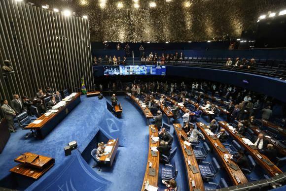 Brasília - Plenário do Senado aprovou a PEC 14/2016, que cria as polícias penitenciárias federais, estaduais e distrital (Fabio Rodrigues Pozzebom/Agência Brasil)