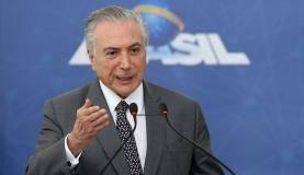 Brasília - O presidente Michel Temer discursa na cerimônia de lançamento da Política de Inovação - Educação Conectada, no Palácio do Planalto (Wilson Dias/Agência Brasil)