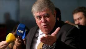 Brasília - O ministro-chefe da Secretaria de Governo da Presidência da República, Carlos Marun, fala à imprensa no Palácio do Planalto (Wilson Dias/Agência Brasil)