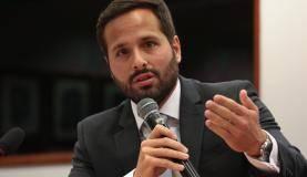 Brasília O ministro da Cultura, Marcelo Calero, fala na Comissão Parlamentar de Inquérito que apura irregularidades na concessão de benefícios e incentivos culturais previstos na Lei Rouanet (José Cruz/Agência Brasil)