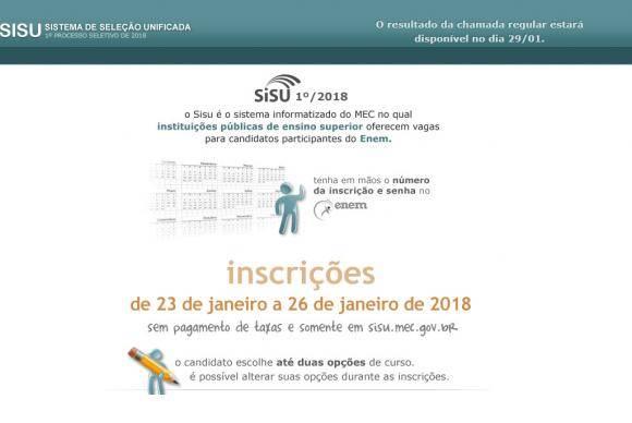 Página do Sisu na internet - Agência Brasil