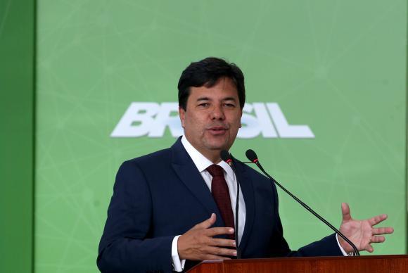 Brasília - O ministro da Educação, Mendonça Filho, discursa na cerimônia de lançamento da Política de Inovação - Educação Conectada, no Palácio do Planalto (Wilson Dias/Agência Brasil)