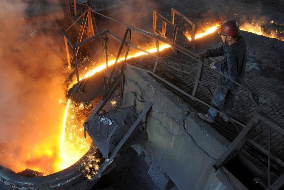 Fábrica de aço na China, que exporta grandes quantidades do produto para os EUA