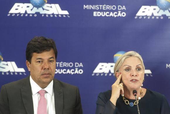 Brasília - As novidades da 20 edição do Enem, são anunciadas durante entrevista coletiva, pelo, Ministro da Educação, Mendonça Filho, e pela presidente do Inep, Maria Inês Fini (Marcello Casal Jr/Agência Brasil)