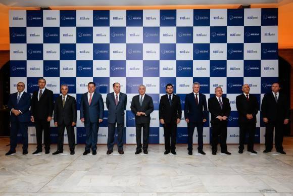 Brasília - O presidente Michel Temer participa da abertura do Fo rum dos Governadores do Conso rcio Brasil Central, no Palácio Itamaraty (Alan Santos/PR)