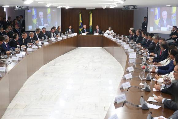 Brasília - O presidente Michel Temer discute Segurança Pública com governadores, em reunião no Palácio do Planalto (Antonio Cruz/Agência Brasil)