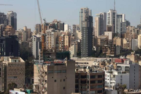 Cidade de Beirute, capital do Líbano.
