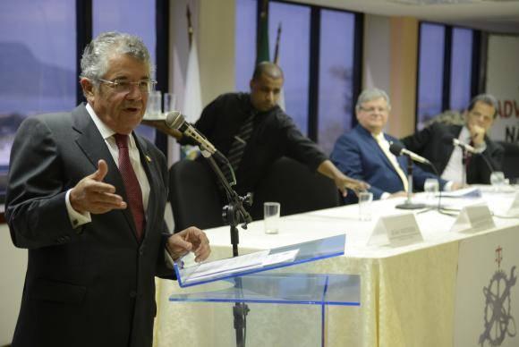 Rio de Janeiro - O ministro do Supremo Tribunal Federal Marco Aurélio Mello fala durante o 15 Colóquio da Academia Brasileira do Trabalho na sede da OAB (Tomaz Silva/Agência Brasil)
