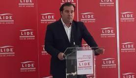 Rio de Janeiro - Presidente da Câmara Rodrigo Maia faz palestra para investidores no Rio de Janeiro e diz que há solução para recursos que serão usados na intervenção federal no Estado