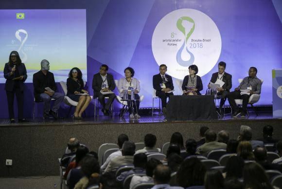 Brasília - Painel no Fórum Mundial da Água discute a revitalização da gestão de recursos hídricos (Fabio Rodrigues Pozzebom/Agência Brasil)
