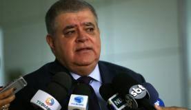 Brasília - O ministro da Secretaria de Governo, Carlos Marun, fala à imprensa após participar do programa Por Dentro do Governo da TV NBR (José Cruz/Agência Brasil)