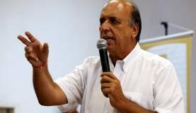 Rio de Janeiro - O governador Luiz Fernando Pezão durante reabertura da Biblioteca Parque da Rocinha, na zona sul (Tomaz Silva/Agência Brasil)