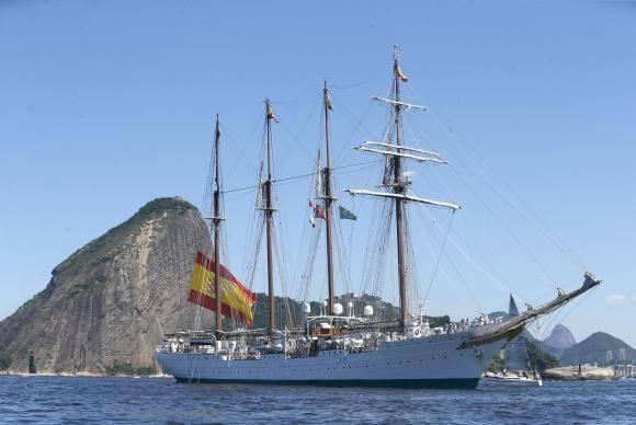 Velas Latinoamérica 2018. O evento reúne seis navios veleiros estrangeiros e o navio veleiro brasileiro Cisne Branco (Tânia Rêgo/Agência Brasil)
