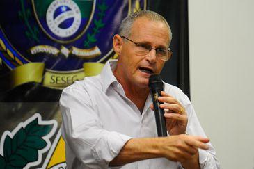 O secretário de segurança, José Mariano Beltrame, durante coletiva na Cidade da Polícia para anunciar os presos da Operação Urano (Tânia Rêgo/Agência Brasil)
