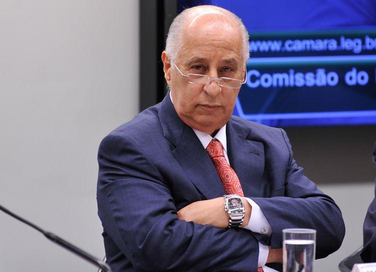O presidente da Confederação Brasileira de Futebol (CBF), Marco Polo Del Nero, participa de audiência na Comissão do Esporte da Câmara dos Deputados (Fabio Rodrigues Pozzebom/Agência Brasil)