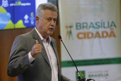Governador do Distrito Federal, Rodrigo Rollemberg, apresenta dados da Pesquisa de Perfil dos Participantes do 8º Fórum Mundial da Água, ocorrido entre 18 e 23 de março, em Brasília