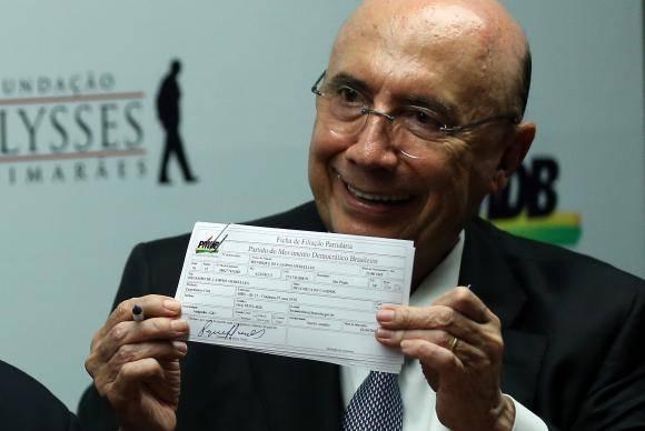 Brasília - O ministro da Fazenda, Henrique Meirelles, se filiou ao MDB. Ele disse que permanecerá no cargo até sexta-feira (José Cruz/Agência Brasil)