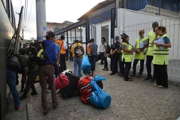 São Paulo - Chegada dos refugiados venezuelanos ao Centro Temporário de Acolhimento de São Matheus, zona leste (Rovena Rosa/Agência Brasil)