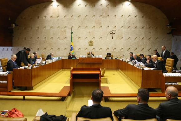 Brasília - Sessão plenária do Supremo Tribunal Federal (STF) para julgar o habeas corpus do ex-ministro Antônio Palocci (Valter Campanato/Agência Brasil)