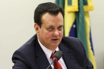 O ministro de Ciência, Tecnologia, Inovações e Comunicações, Gilberto Kassab, durante audiência na Comissão de Ciência e Tecnologia, Comunicação e Informática da Câmara dos Deputados.