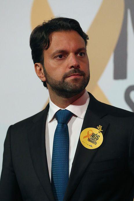 O ministro das Cidades, Alexandre Baldy, participa da abertura da 5ª edição da campanha Maio Amarelo com o lema Nós somos o trânsito.