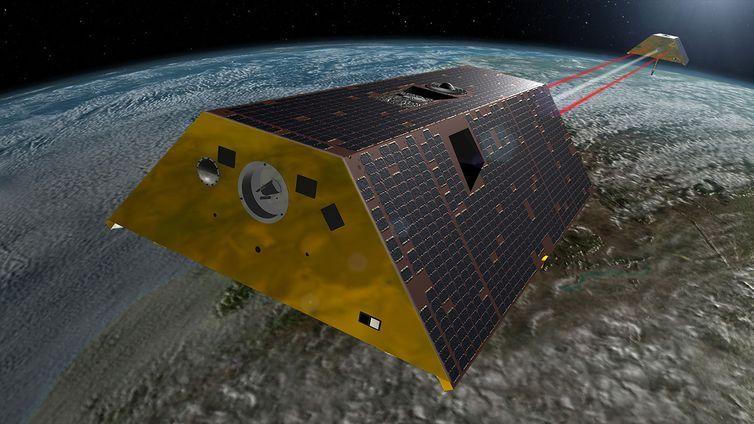 Satélites Grace-Fo da Nasa vão estudar ciclo da água na Terra, incluindo degelo e movimento das correntes aquáticas.