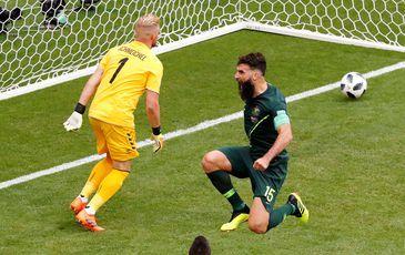 Austrália e Dinamarca jogam partida em Samara durante a Copa da Rússia 2018 REUTERS/David Gray
