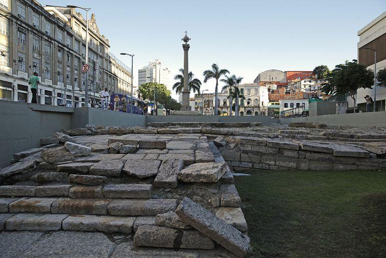 Rio de Janeiro - O Cais do Valongo, principal porto de entrada de escravos nas Américas, é reconhecido como Patrimônio da Humanidade pela Unesco (Fernando Frazão/Agência Brasil)
