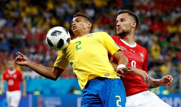 Brasil e Suíça se enfrentam pelo grupo E da Copa do Mundo 2018 REUTERS/Damir Sagolj
