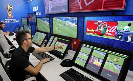 Centro de operações do sistema de arbitragem por vídeo em Moscou, na Rússia