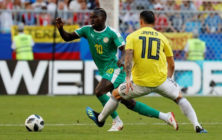 Copa 2018, Colômbia e Senegal, Lances REUTERS/Carlos Garcia Rawlins