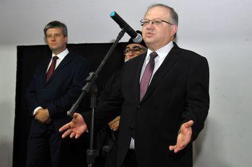 O embaixador da Rússia no Brasil, Sergey Akopov, durante abertura de exposição sobre o país, mostrando um pouco da cultura russa para os brasileiros.
