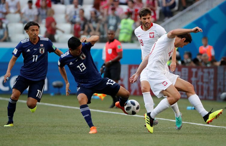Copa 2018, Japão e Polônia, Lance REUTERS/Ueslei Marcelino