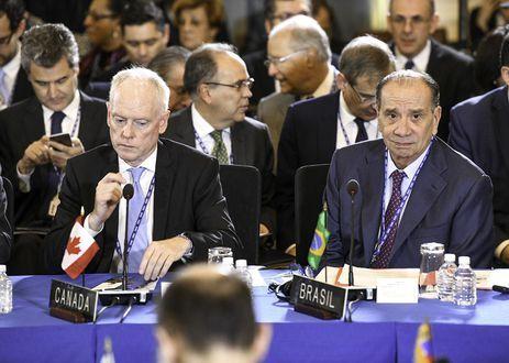 O ministro das Relações Exteriores, Aloysio Nunes, participa da abertura do 48º Período Ordinário de Sessões da Assembleia Geral da OEA