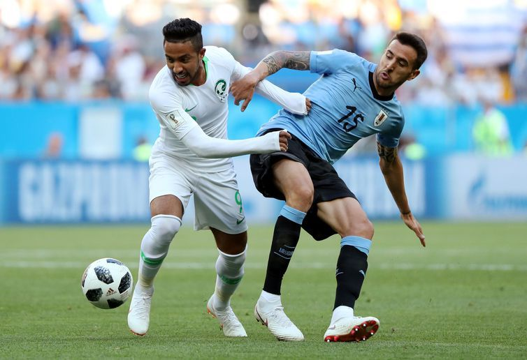 Soccer Football - World Cup - Group A - Copa 2018, Uruguai e Arábia Saudita, Lances REUTERS/Marko Djurica