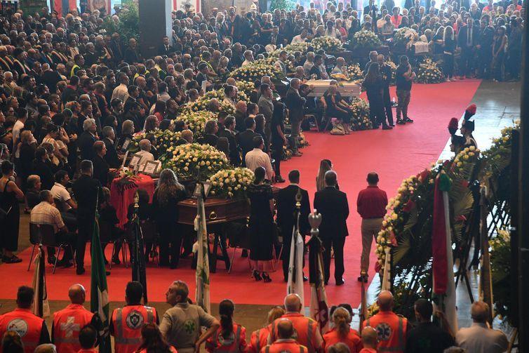 Funeral de Estado das vítimas do desabamento de ponte em Gênova, na Itália
