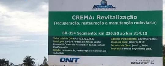 Ministério da Infraestrutura confirma revitalização da BR-354