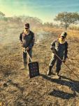 Incêndio destrói dois mil metros quadrados de área de preservação