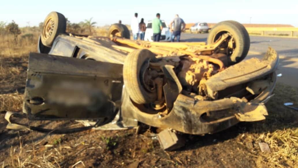 BR 354: Motorista fica ferido em acidente, próximo a Rio Paranaíba