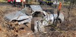 veículo ficou destruído após acidente perto de patrocinio