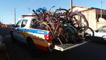 PM recupera bicicletas furtadas e prende suspeito de receptação