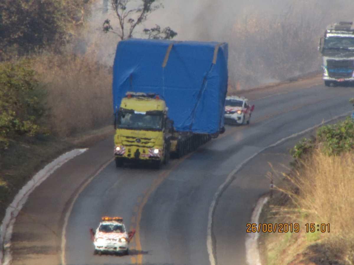 Carga de 140 toneladas poderá deixar trânsito lento na BR-365